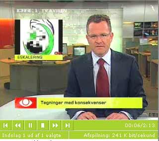 TV-Avisen ligger sig i støvet